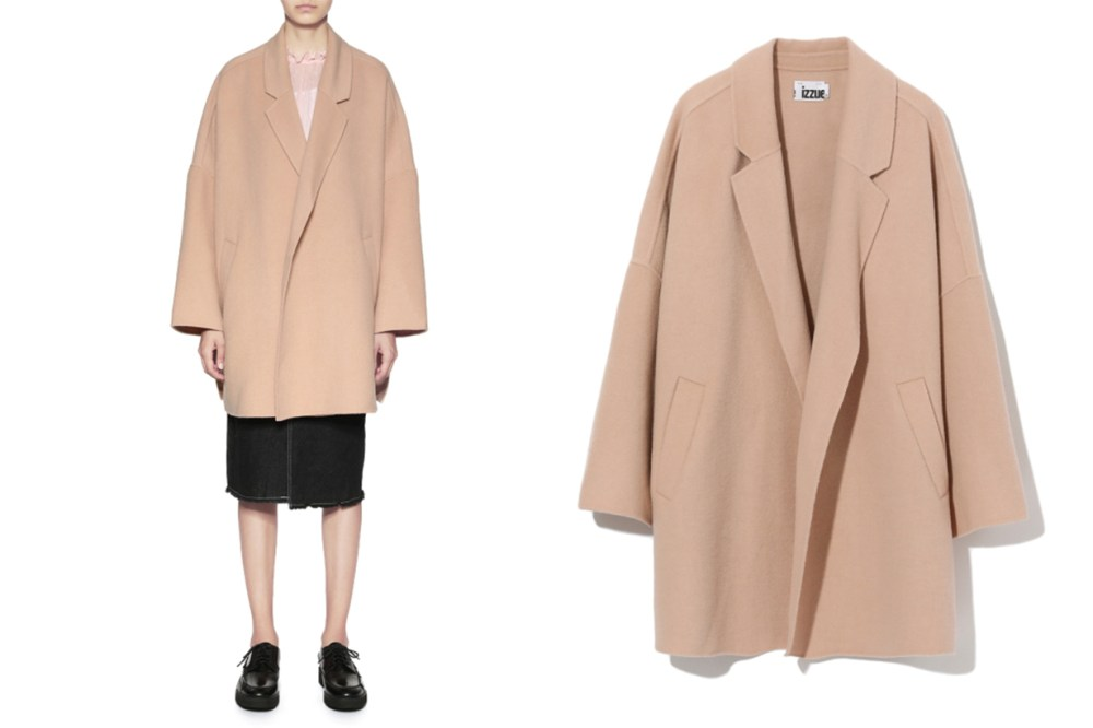 izzue Buttonless Coat