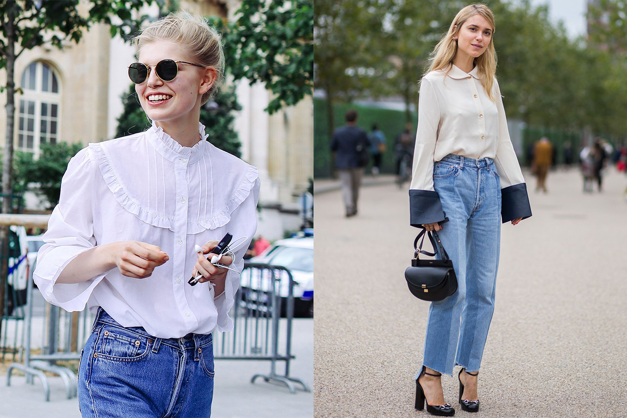 It-Girl Way to Wear Jeans to the Office