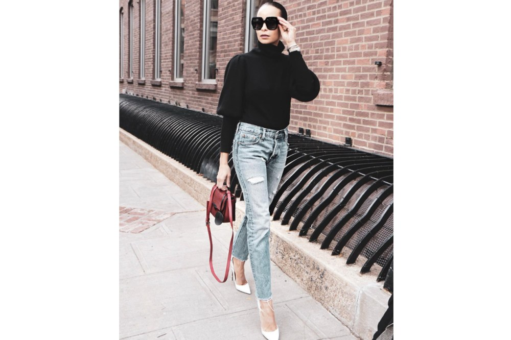 Sweater Jeans Heels Outfits