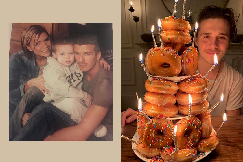 Brooklyn Beckham 20th birthday doughnut cake