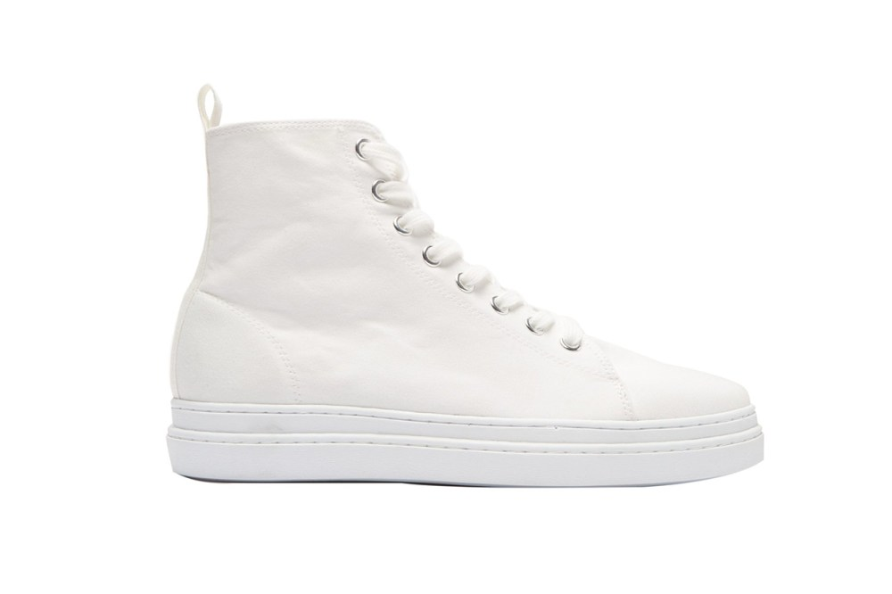 Junya Watanabe Pointed Toe Lace-Up High-Top Trainers