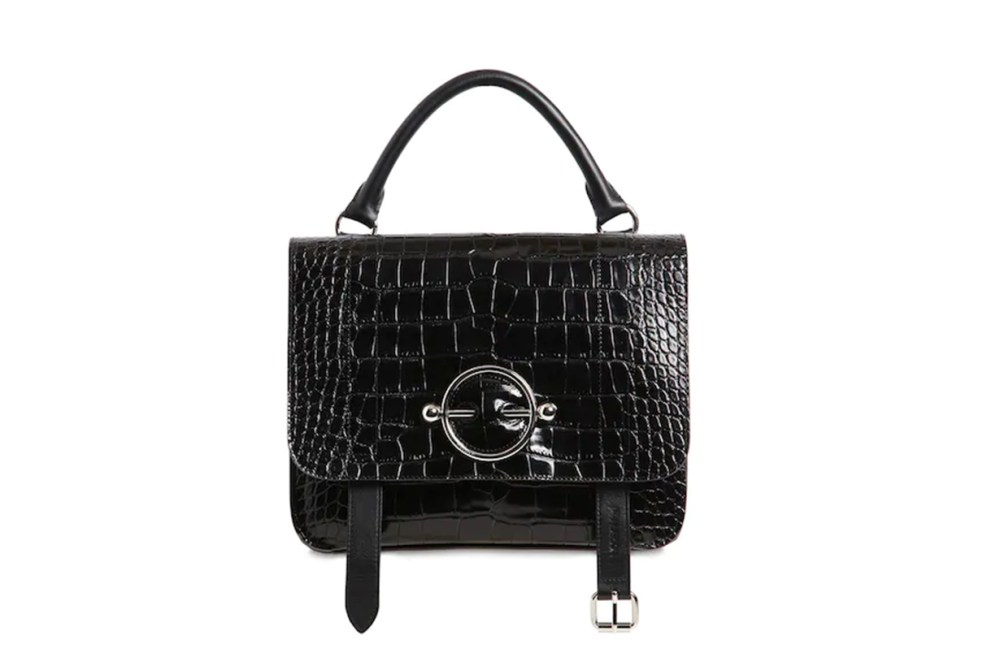 JW Anderson Disc Satchel Croc Embossed Leather Bag