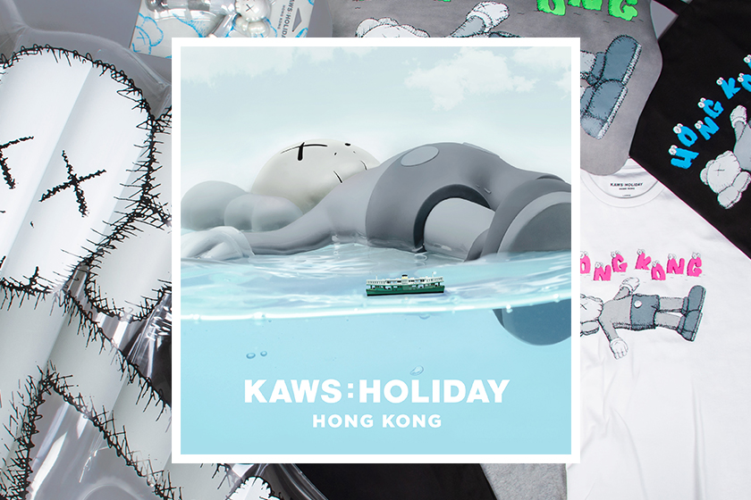 kaws-holiday-hong-kong product T-shirt tote bag figure floating bed