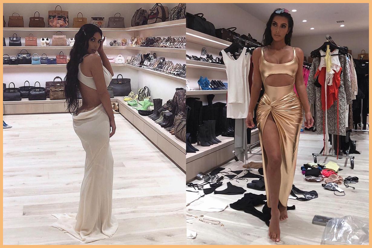 Kim Kardashian's handbag room is truly a sight to behold