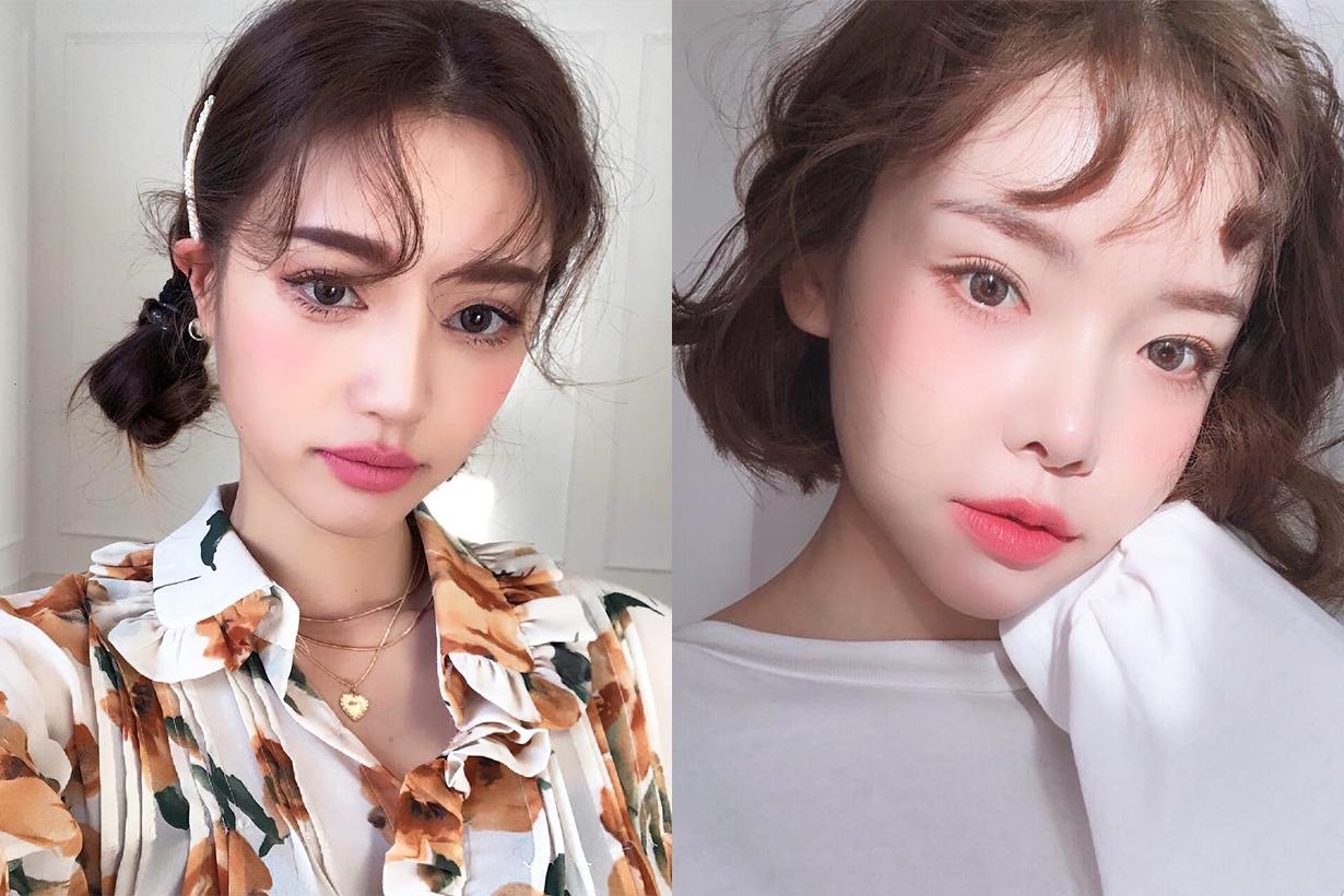 Baby Hair Bangs hairstyles korean girls trend DIY hair bang hair styling tutorial bangs style k beauty