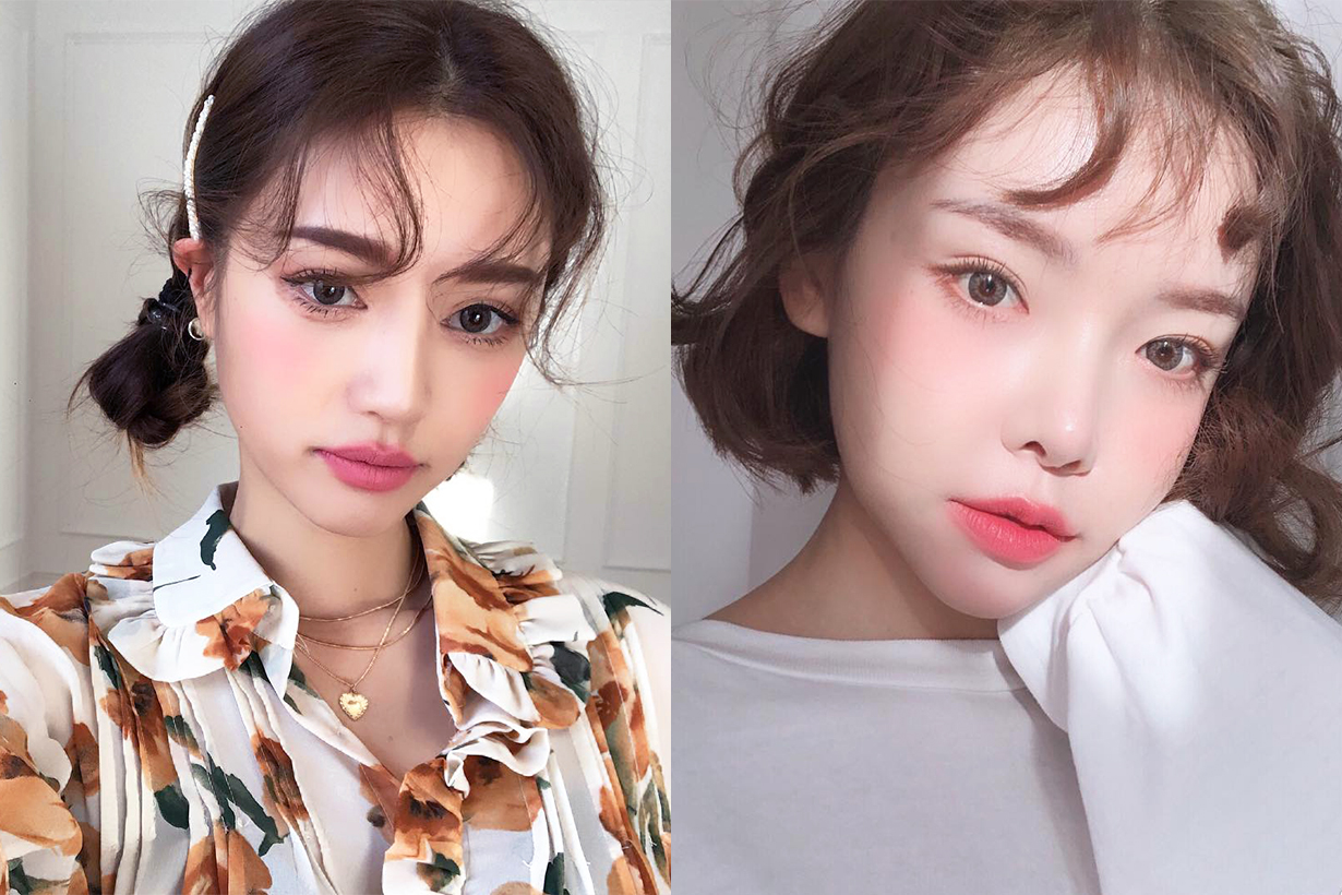 Baby Hair Bangs hairstyles korean girls trend DIY hair bang hair styling tutorial bangs style k beauty