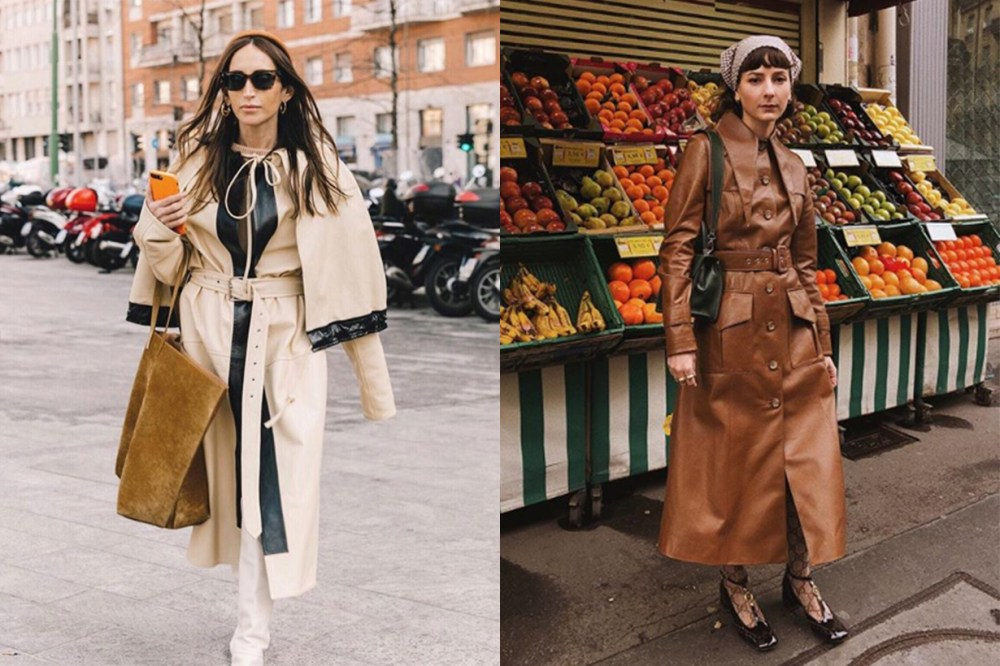 Leather Coats Street Style
