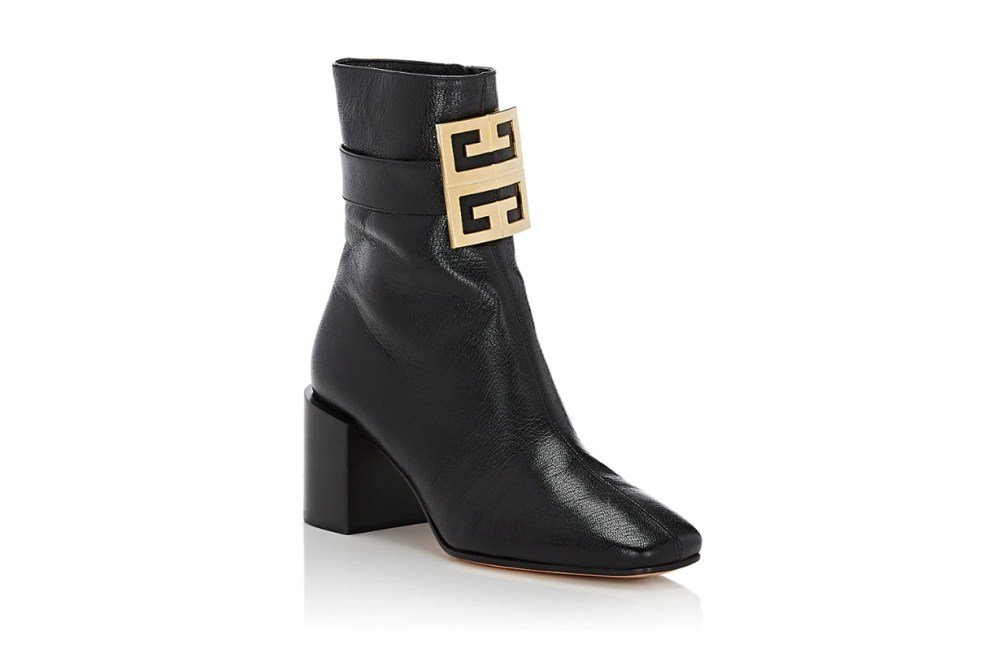 Logo-Embellished Leather Ankle Boots