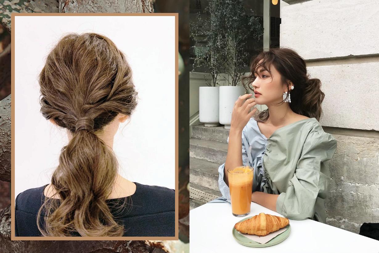 Low ponytail hairstyles hair styling tips hairstyles tutorial korean girls hairstyles trend