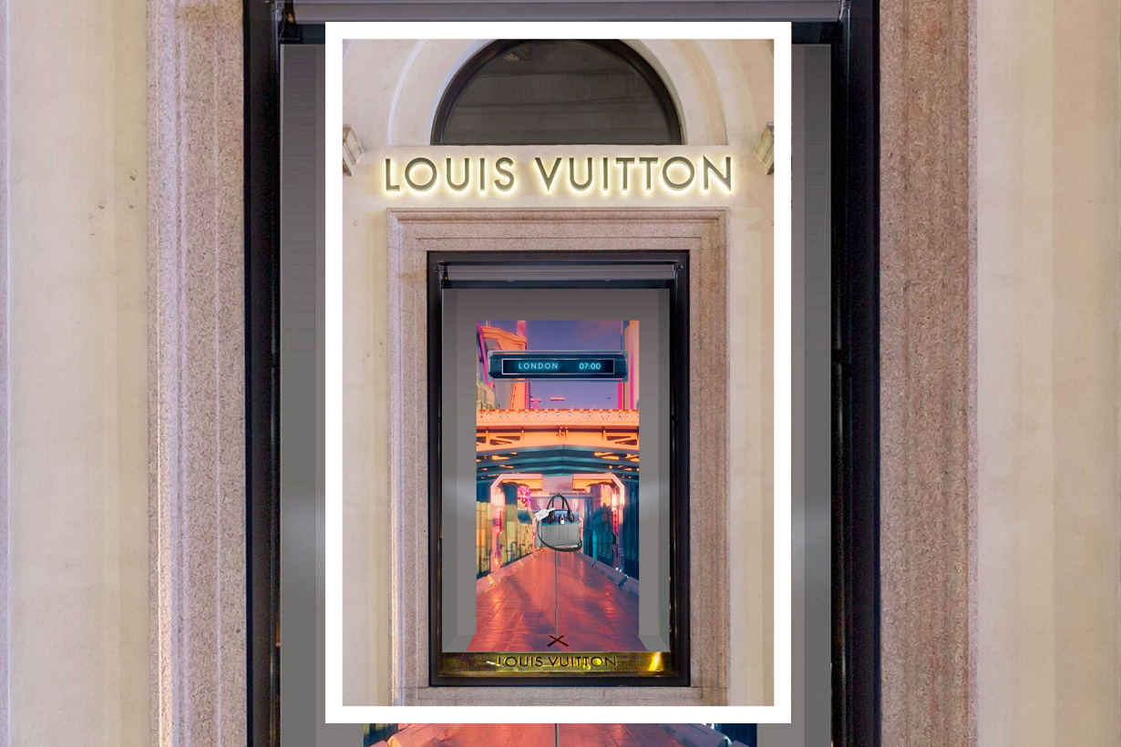 louis vuitton 2019 ss window design postcards from the future
