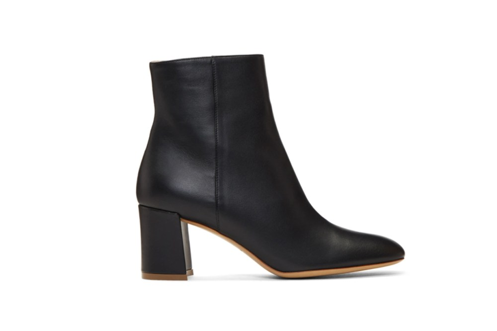 Mansur Gavriel Black Leather 65 Ankle Boots