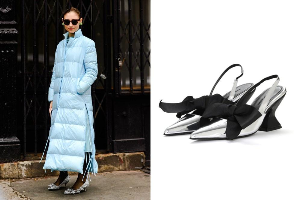 MARQUES' ALMEIDA Bow tie slingback heels Jenny Walton
