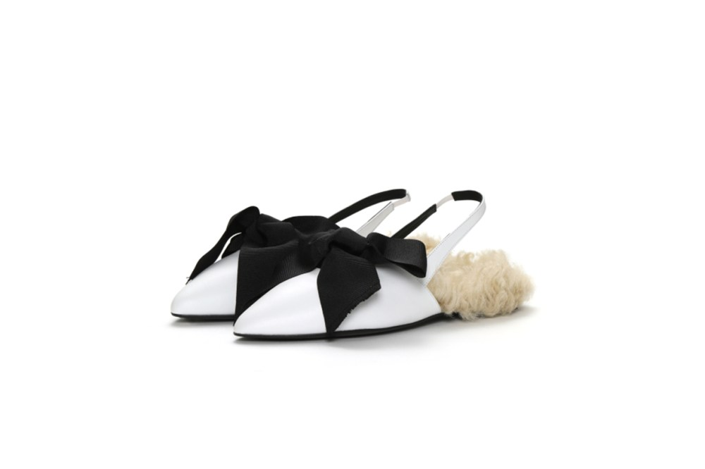 MARQUES' ALMEIDA Bow Tie Slingback Slippers