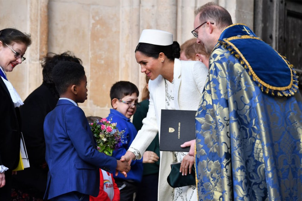 Meghan Markle Commonwealth Day White Uniform