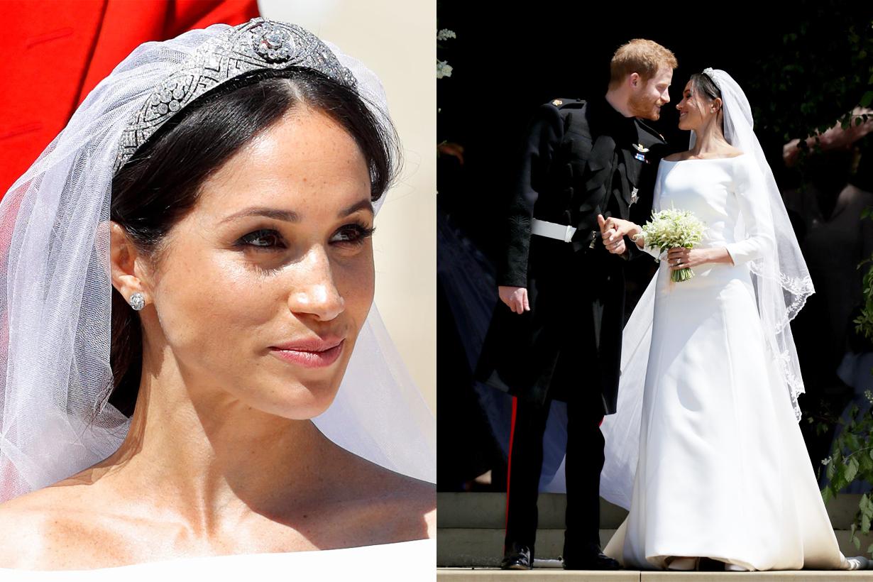 Meghan Markle Prince Harry Duchess of Sussex Royal Wedding Wedding Makeup style Daniel Martin flawless glowy base makeup wedding dress British Royal Family