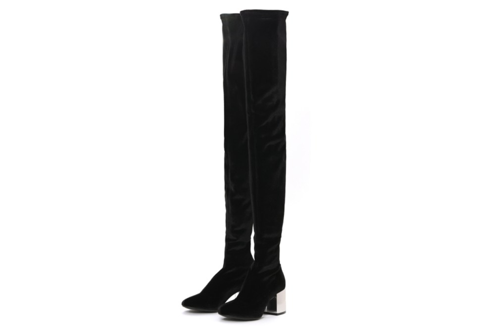 MM6 Over-The-Knee Mirrored Heel Boots