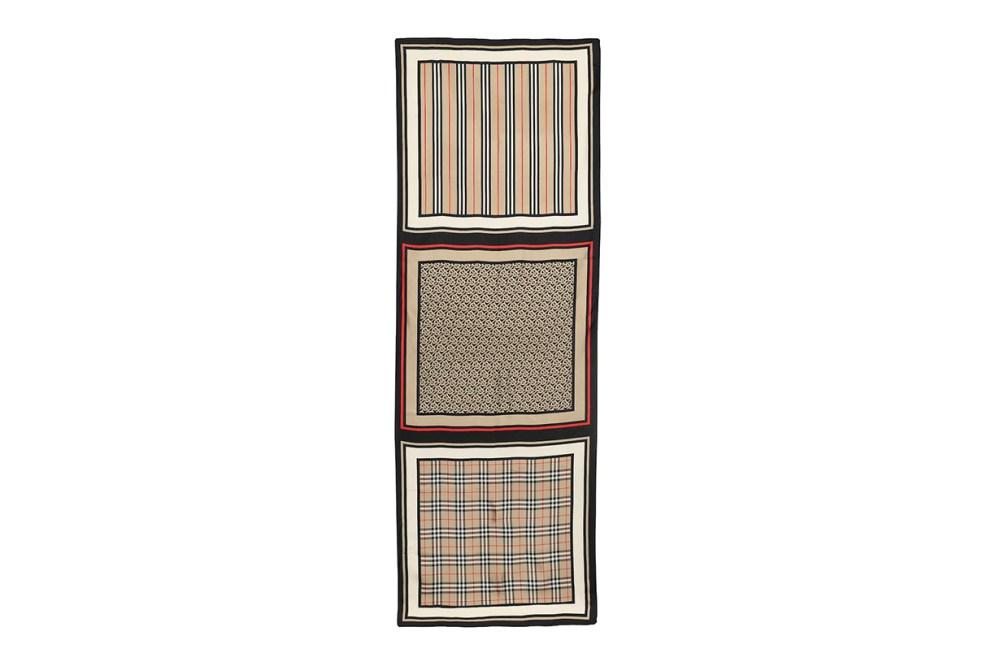Burberry Monogram Silk Scarf