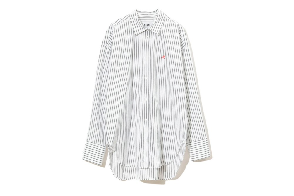 MSGM Oversized 'M' Embroidered Stripe