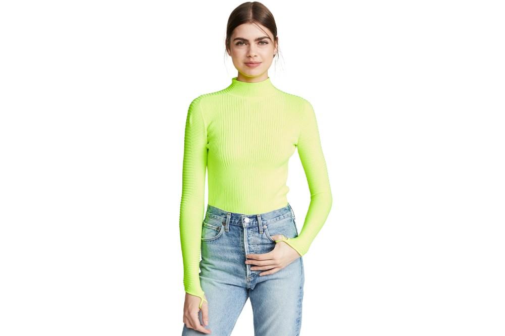 adam selman sport neon shirt