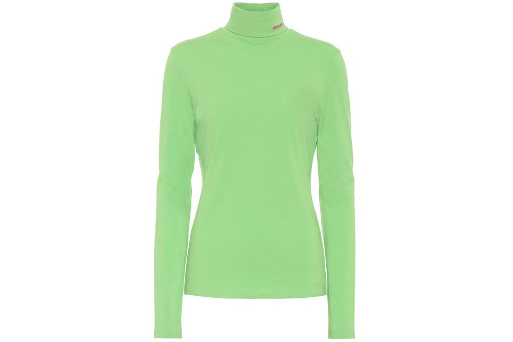 calvin klein neon turtleneck top
