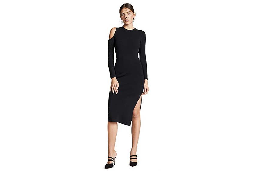Nicholas Cold Shoulder Midi Dress