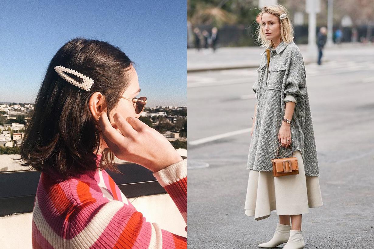 pearl hair clips affordable fashion