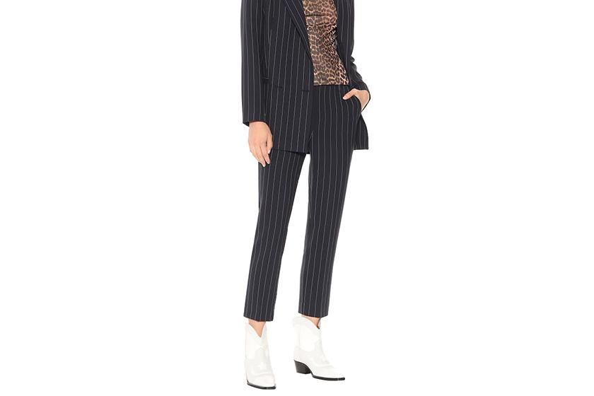 Ganni Pinstripe Slim Pants