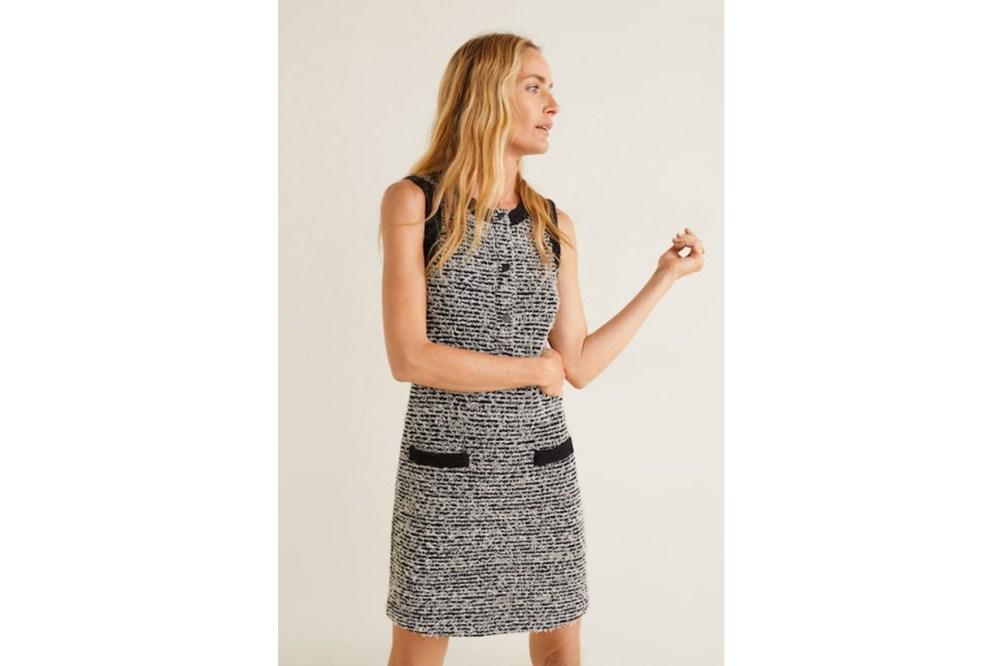 Mango Pocket Tweed Dress
