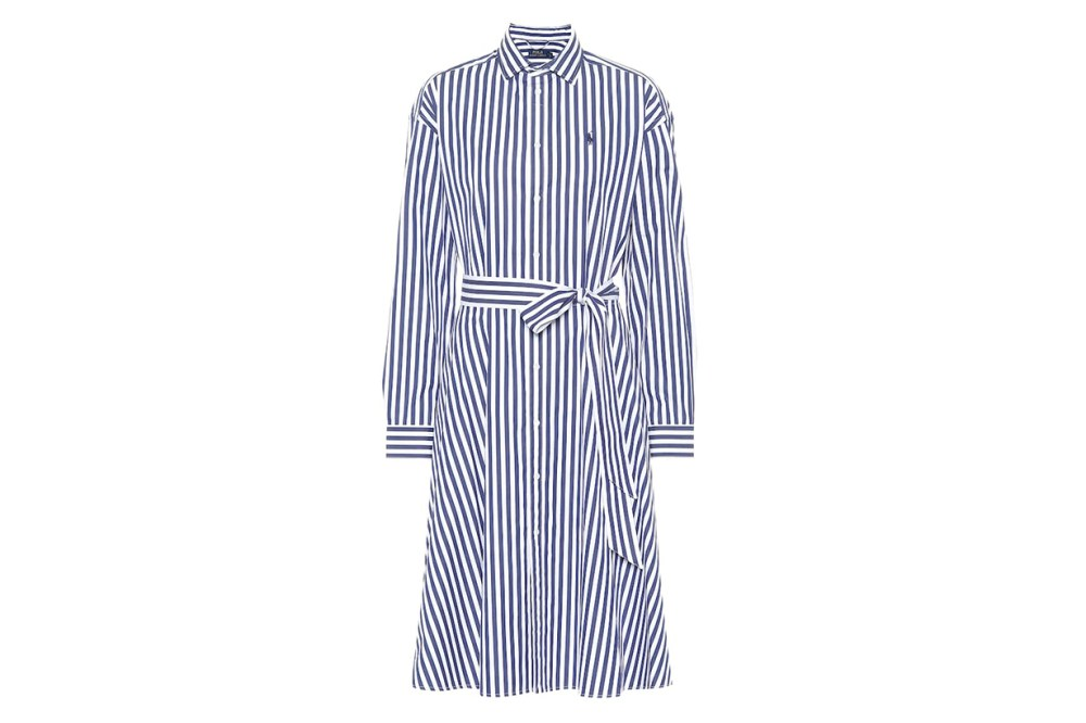 Polo Ralph Lauren Striped Cotton Midi Dress