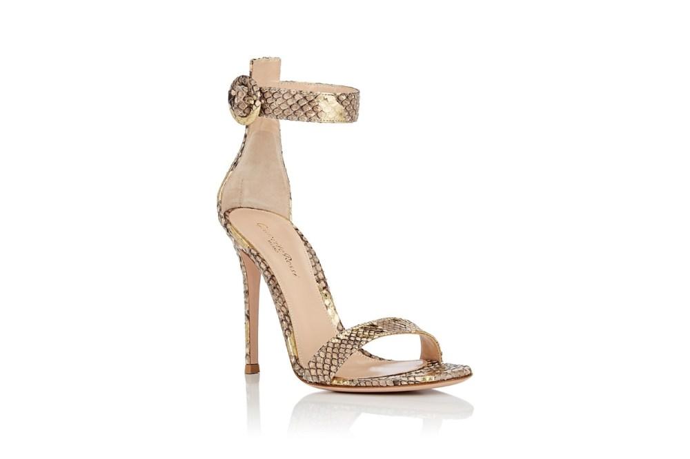 Portofino Python Ankle-Strap Sandals