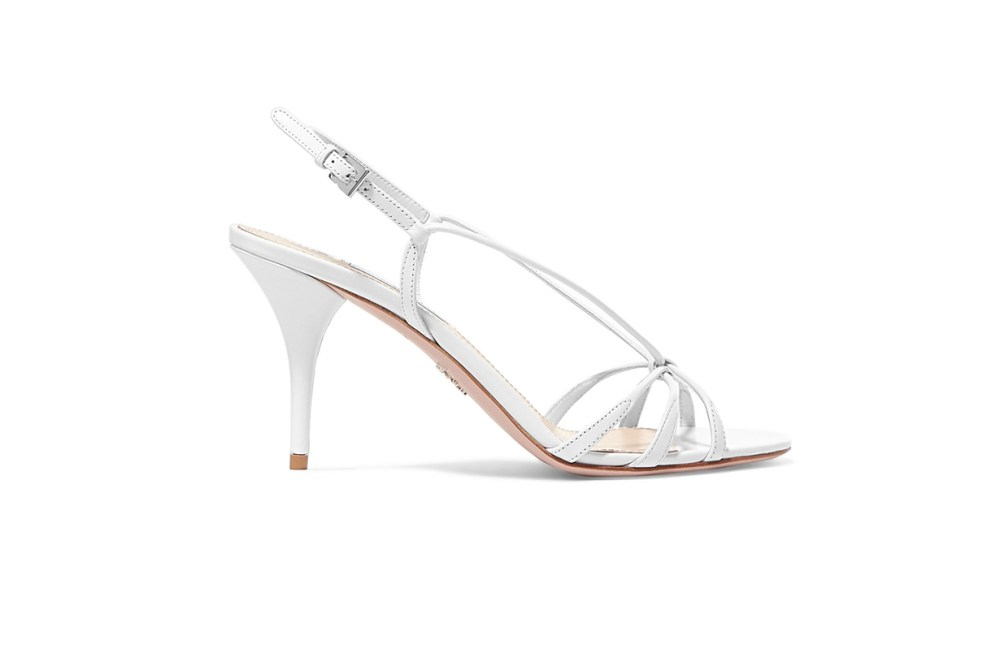Prada 85 leather slingback sandals