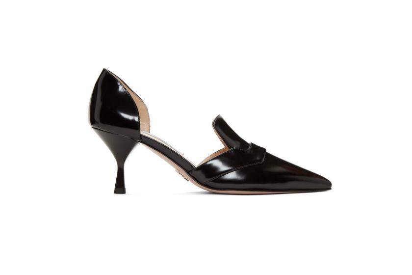 Prada Black D'Orsay Heels