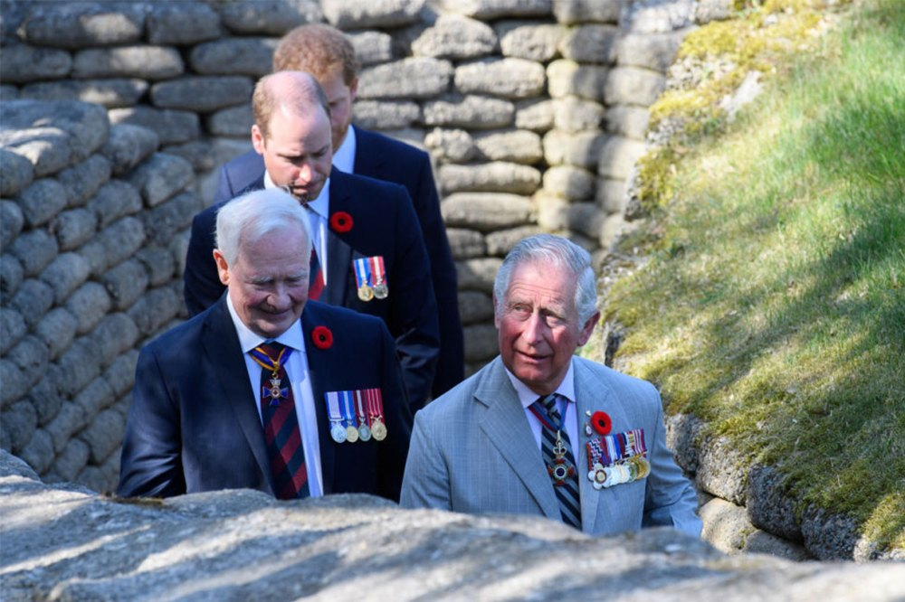 prince charles with prince harry and prince william