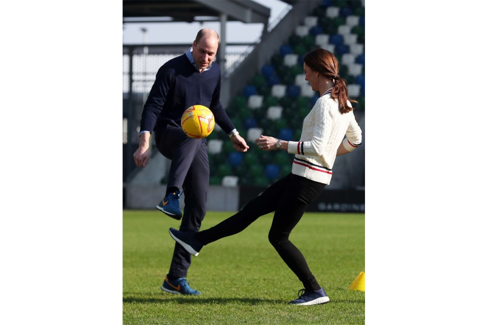 Prince George Kate Middleton Prince Harry Football