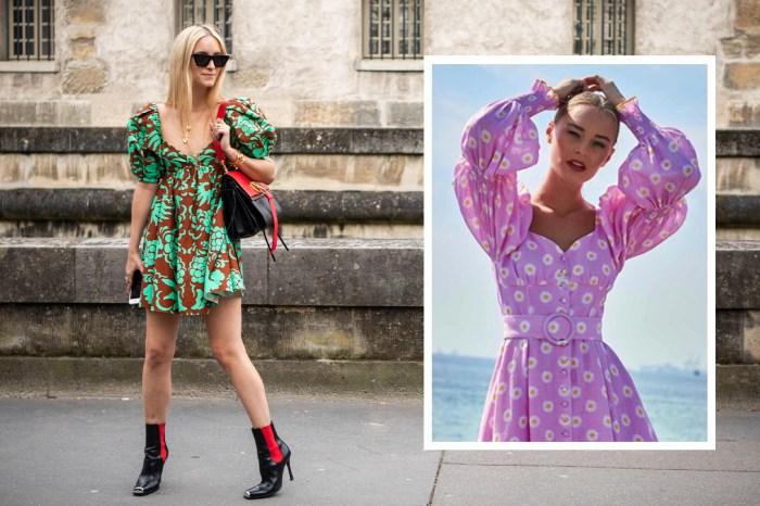 這個夏天泡泡袖連身裙當道!性感時尚魅力全靠心形胸口設計