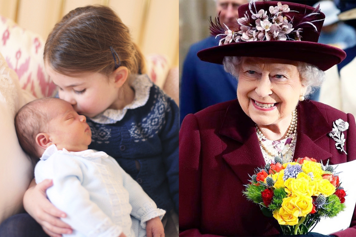 Queen Elizabeth II Princess Charlotte Prince Louis Prince Harry Meghan Markle Royal Baby common birthday april Taurus sign British Royal family