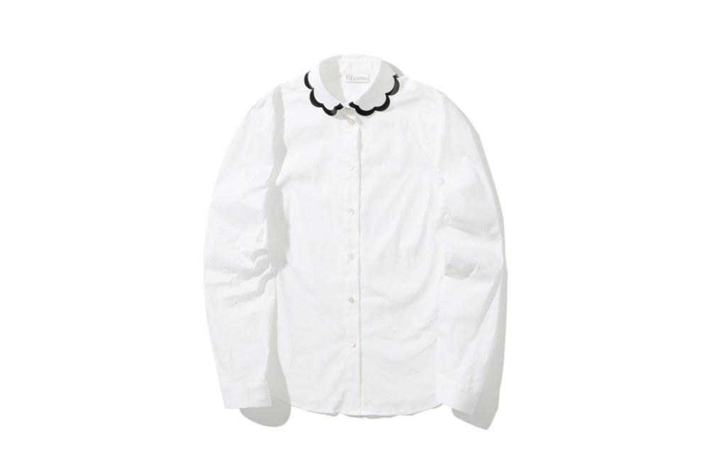 REDValentino Scallop Peter Pan Collar Shirt