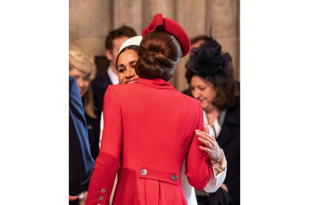 Kate Middleton Meghan Markle Body Language Royal Commonwealth Day Service