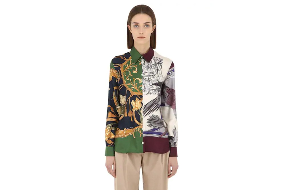 Salvatore Ferragamo Printed Silk Twill Shirt