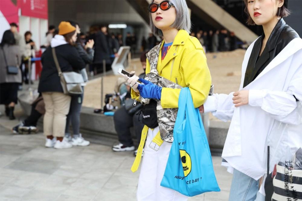 Pop Art Pattern Bag Yellow Jacket Korean Street Style
