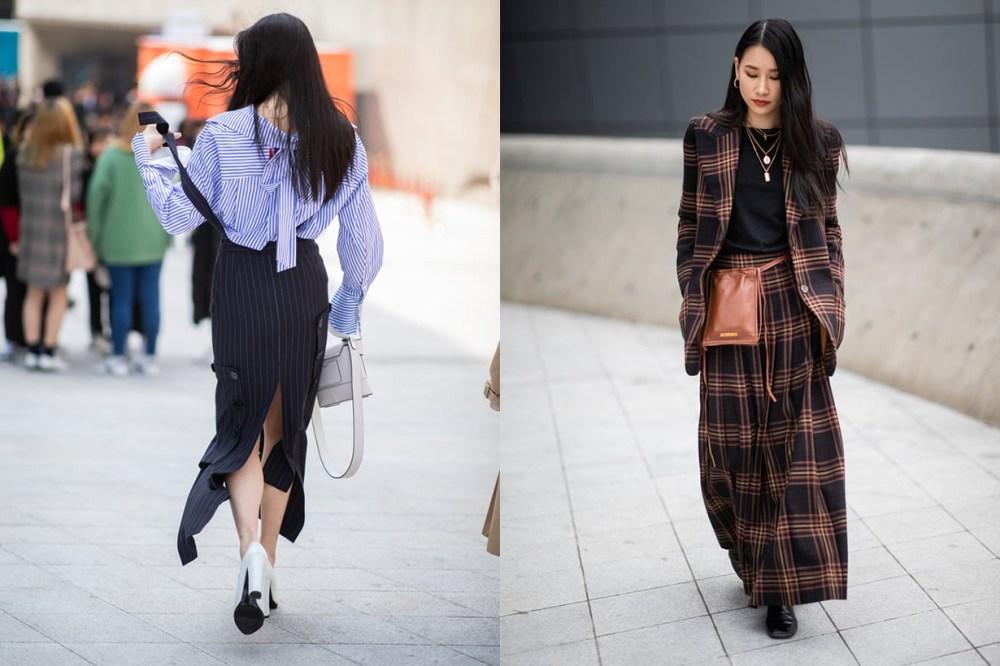 Plaid Suit Shirt Dress Korean Girl Street Style