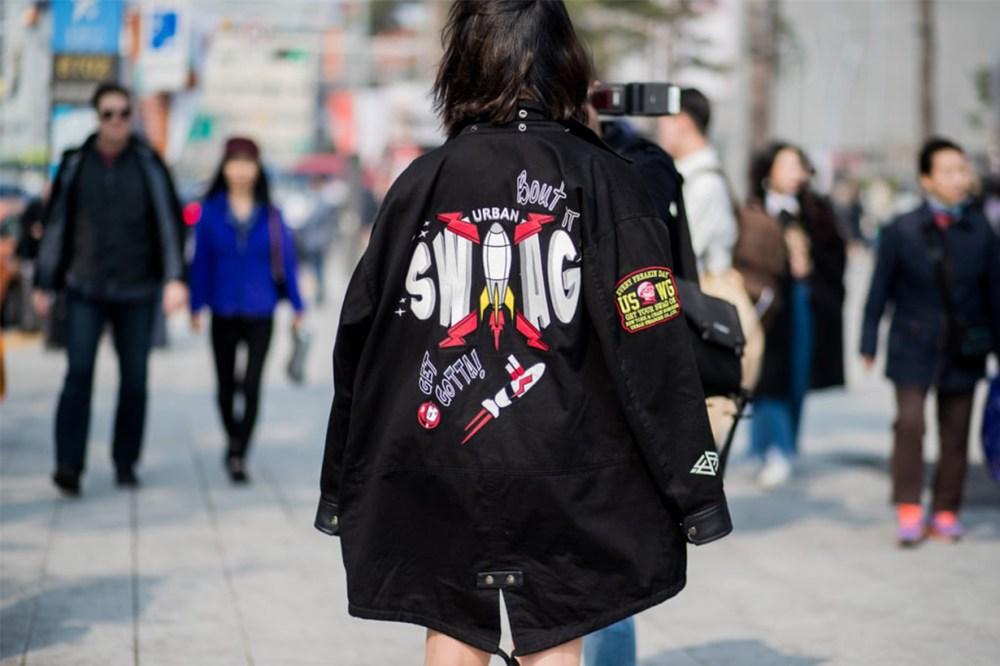 Slogan Printed Jacket Korean Street Style