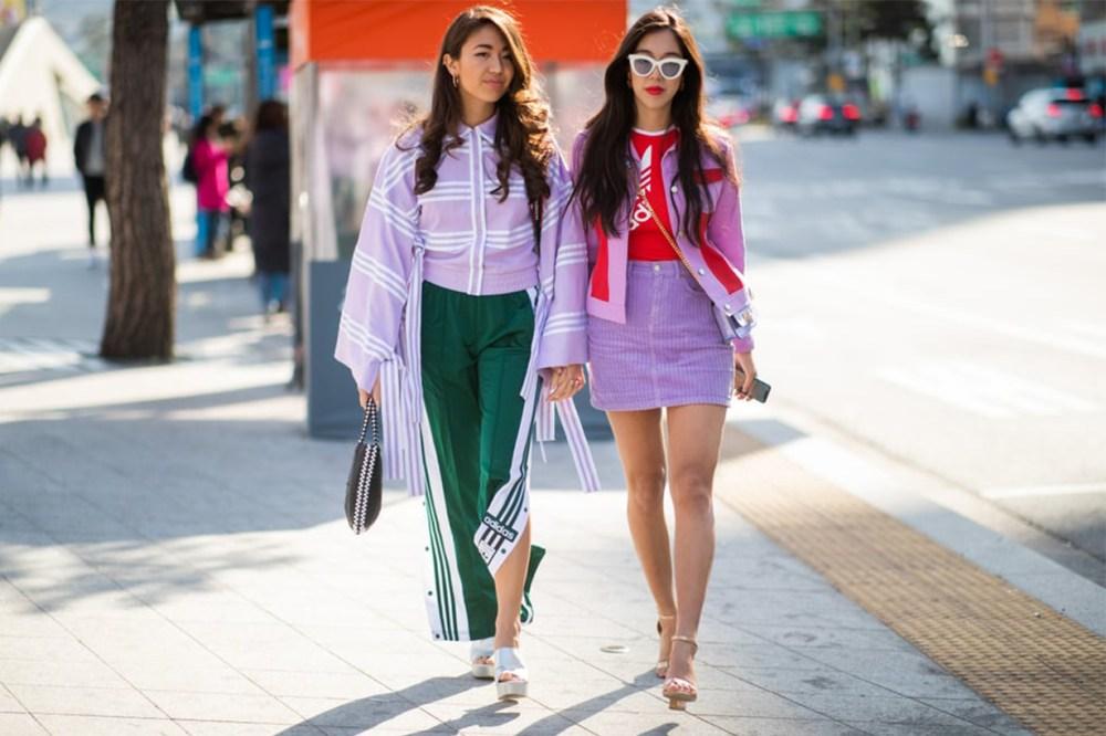 Lavender Purple Korean Girls Street Style
