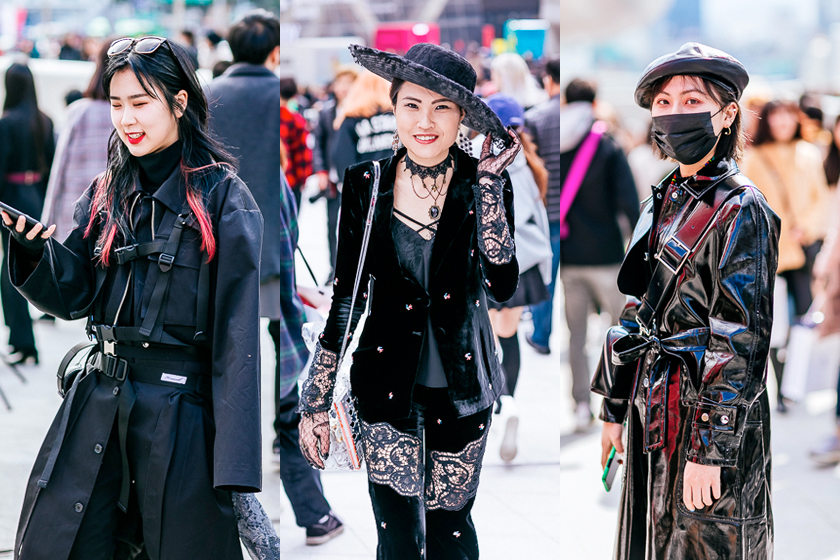 seoul fashion week street snap 2019 korea
