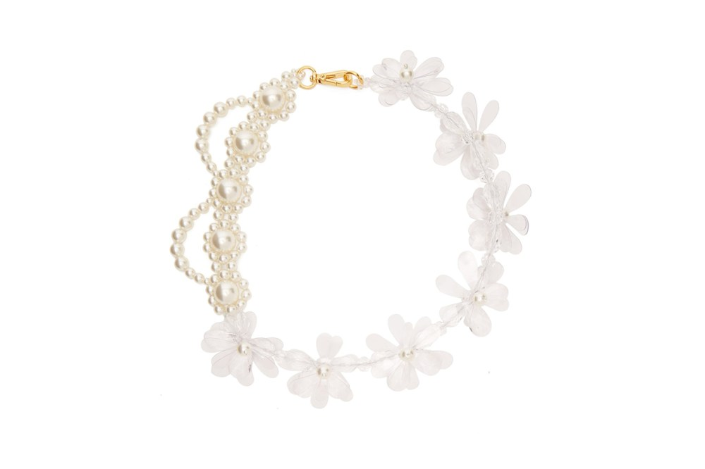 Simone Rocha Faux-Pearl and Bead Floral Necklace