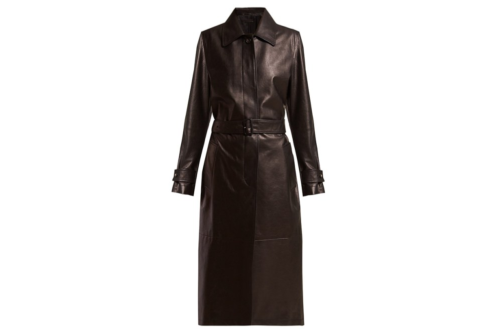 Bottega Veneta Single-breasted Leather Coat