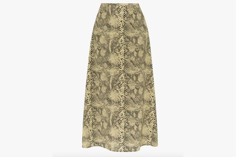 sandy liang snake print skirt