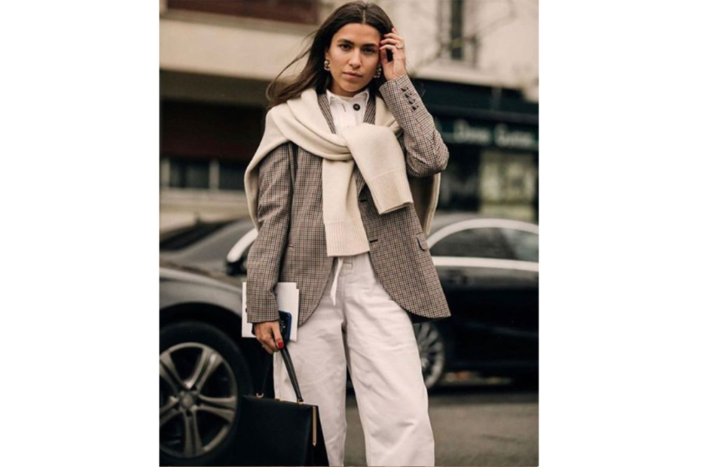 Blazer Sweater Knitwear Street Style
