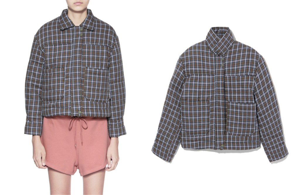 STYLENANDA Plaid Puffer Jacket