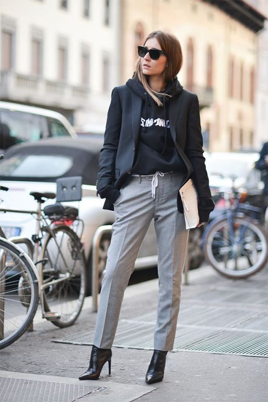 sweatshirt spring outfit idea streetsnaps